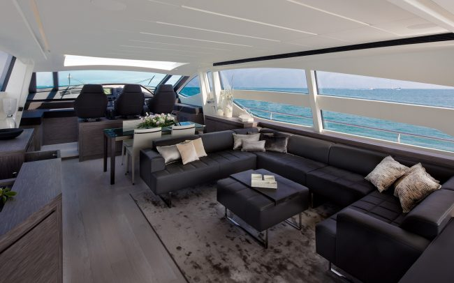 Pershing 82 main deck